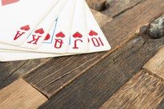 Carte della mazza, flash reale Immagini Stock