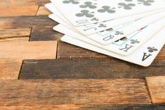 Carte della mazza, flash reale Fotografie Stock