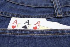 Carte della mazza. Tasca Fotografia Stock Libera da Diritti