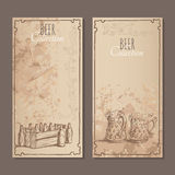 Carte della raccolta della birra Immagini Stock