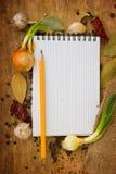 Carte des épices Image stock