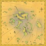 Carte des îles exotiques illustration stock