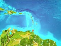 Carte des Caraïbe Photos libres de droits