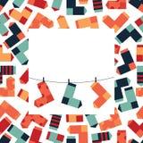 Carte des chaussettes Photo stock