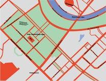 Carte des collines de moineau à Moscou dans le Russe Images libres de droits