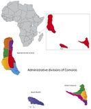 Carte des Comores Photo stock
