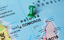 Carte des Comores Images libres de droits