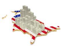 Carte des dollars d'États-Unis Image stock