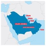 Carte des Etats membres du Conseil de Coopération du Golfe illustration libre de droits