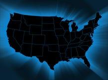 Carte des Etats-Unis Photo stock