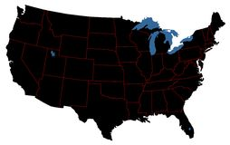 Carte des Etats-Unis Lizenzfreie Stockbilder