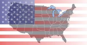 Carte des Etats-Unis Photographie stock libre de droits