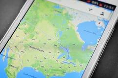 Carte des Etats-Unis Images stock