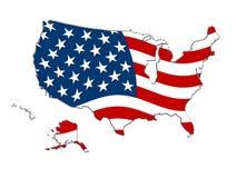 Carte des Etats-Unis Photo libre de droits