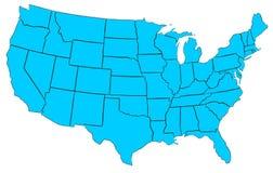 Carte des Etats-Unis Photos libres de droits