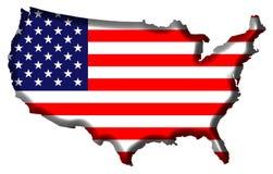 Carte des Etats-Unis d'Amérique Images stock