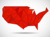 Carte des Etats-Unis dans le style polygonal géométrique Photos libres de droits