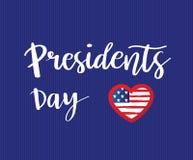 Carte des Présidents Day de vecteur Photographie stock