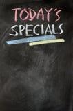 Carte des specials d'aujourd'hui Photo stock