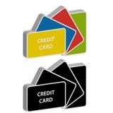 carte di credito 3D su fondo bianco illustrazione vettoriale