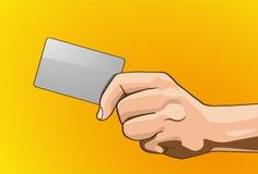 Carte di credito della maniglia Immagini Stock Libere da Diritti