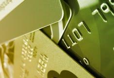 Carte di credito verdi Immagine Stock Libera da Diritti