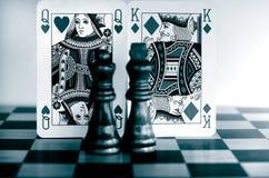 Carte di fronte di re e della regina Immagine Stock