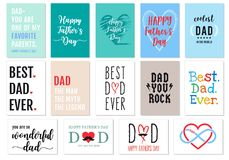 Carte di giorno di padri, insieme di vettore Fotografia Stock Libera da Diritti