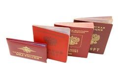 Carte di identificazione russe Fotografia Stock Libera da Diritti