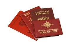 Carte di identificazione russe Immagini Stock Libere da Diritti