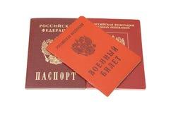 Carte di identificazione russe Fotografie Stock