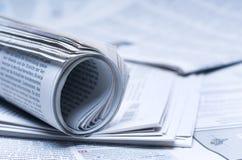 Carte di notizie Immagine Stock