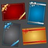 Carte di regalo con gli archi Fotografie Stock Libere da Diritti