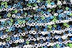 Carte di rotoli di vista superiore Fotografia Stock