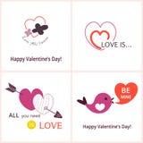 Carte di San Valentino Illustrazione di Stock