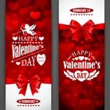 Carte di San Valentino Immagini Stock