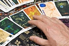 Carte di tarocchi Immagini Stock