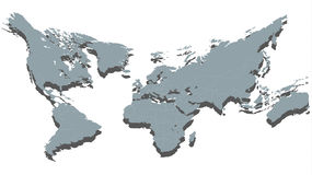 Carte donnée du carrossage du monde 3D d'isolement sur le blanc illustration libre de droits