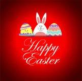 Carte drôle buny et de poussin de Pâques Photos libres de droits