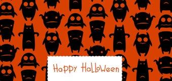 Carte drôle de Halloween de monstres illustration libre de droits