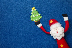 Carte drôle de Santa Claus Christmas Photographie stock