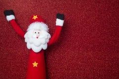 Carte drôle de Santa Claus Christmas Copyspace Image libre de droits
