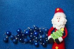 Carte drôle de Santa Claus Christmas Copyspace Images stock