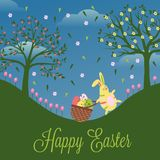 Carte drôle Joyeuses Pâques Image libre de droits