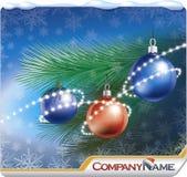 Carte-drapeau de Noël Photographie stock libre de droits