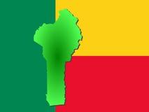 Carte du Bénin Photographie stock libre de droits