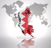 Carte du Bahrain Images libres de droits