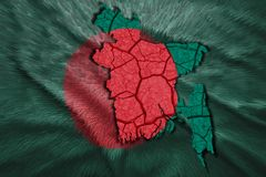 Carte du Bangladesh Photos stock