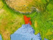 Carte du Bangladesh Image libre de droits