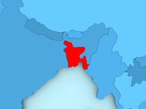 Carte du Bangladesh Images stock
